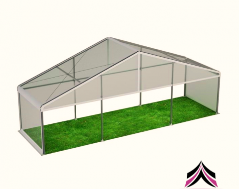 Skaidrus modulinis paviljonas 9x3